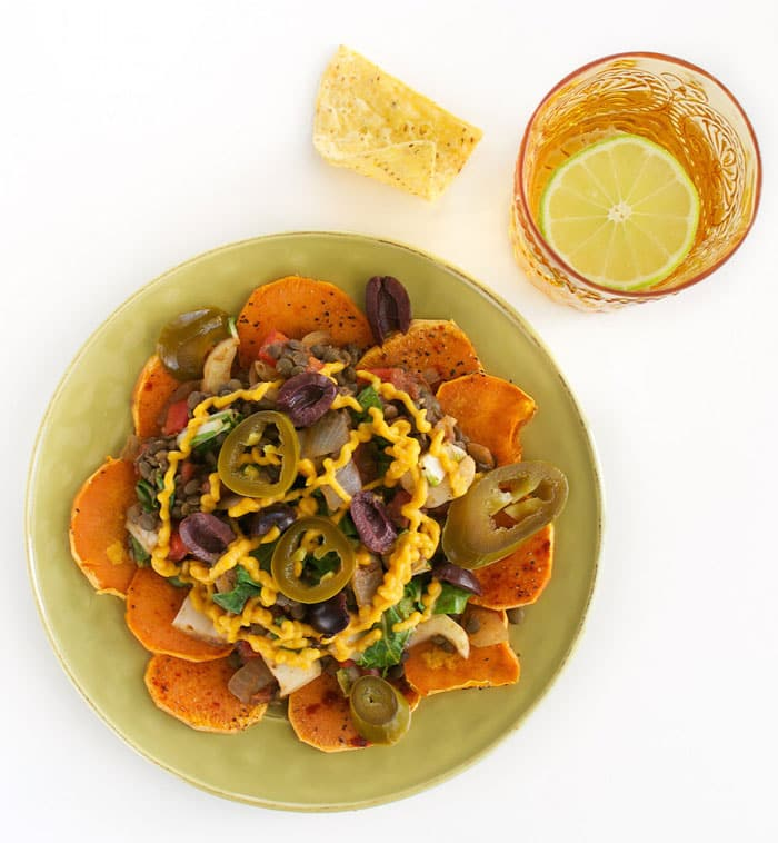 Annie's Lentil & Bok Choy Sweet Potato Nachos | Healthy Slow Cooking