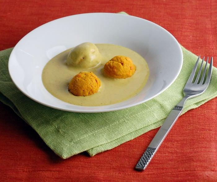 Vegan Carrot Koftas in Easy Blender Coconut Indian Sauce