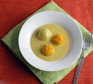 Vegan Carrot Koftas in Easy Blender Coconut Indian Sauce