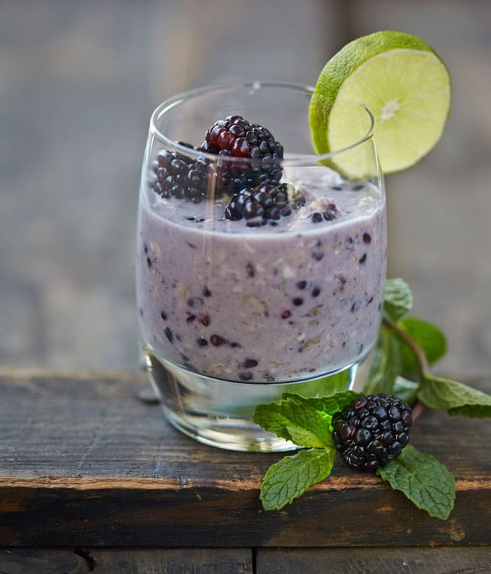 Blackberry Mojito Overnight Oats from OATrageous Oatmeals