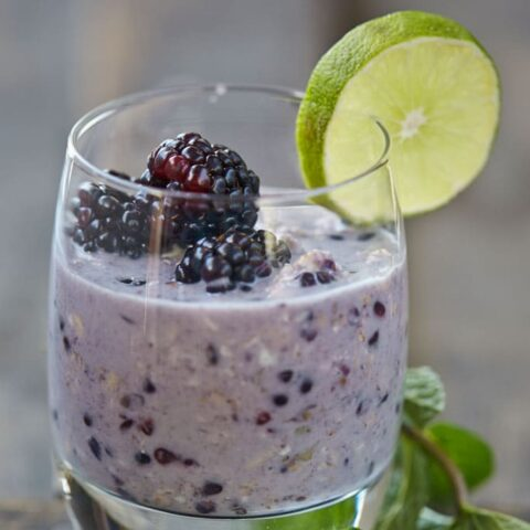 Blackberry Mojito Overnight Oats from OATrageous Oatmeals