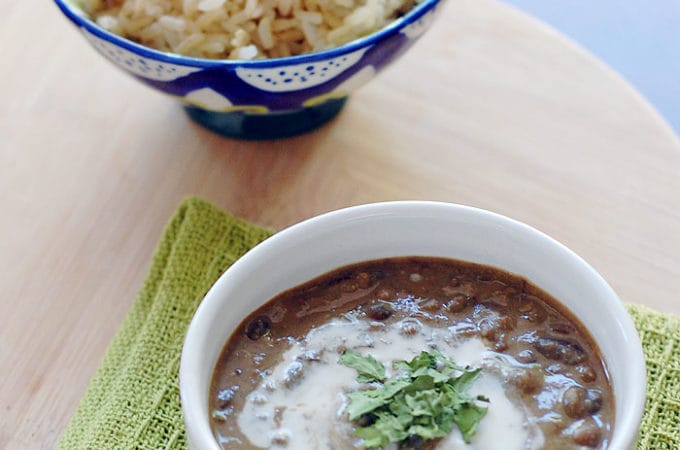 Vegan Slow Cooker Creamy Indian Lentils and Kidney Beans | HealthySlowCooking.com