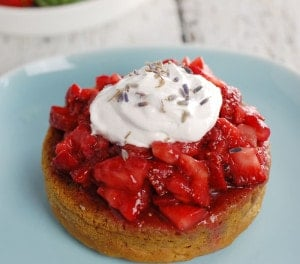 Lavender Gin Strawberry Shortcake | HealthySlowCooking.com