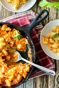 Cheesy Cauliflower and Potato Bake from The Abundance Diet by  Somer McCowen