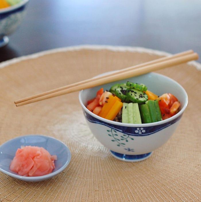 Golden Door Zazen Rice Salad with Baked Tofu | HealthySlowCooking.com @goldendoorspa @goldendoor @thegoldendoor