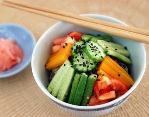 Golden Door Zazen Rice Salad with Baked Tofu