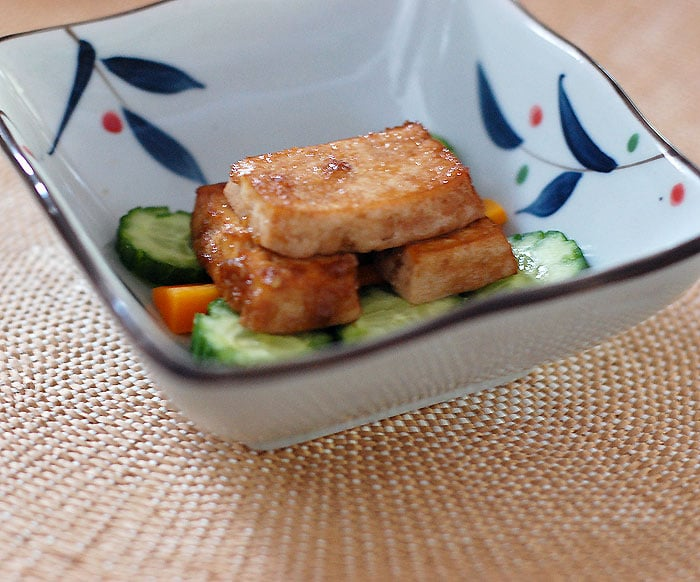 Golden Door Zazen Rice Salad with Baked Tofu | HealthySlowCooking.com @goldendoorspa @goldendoor @thegoldendoor