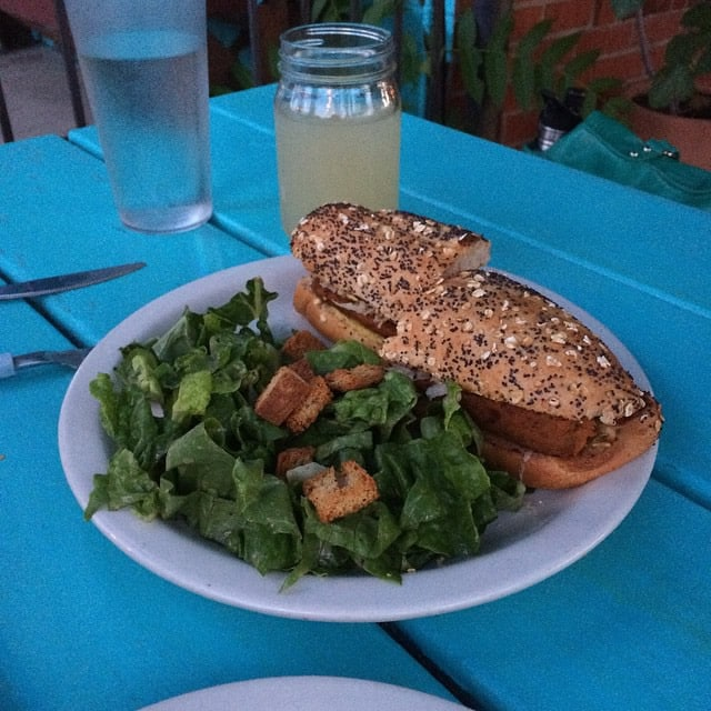 Vegan Sausage Sandwich from Coounter Culture