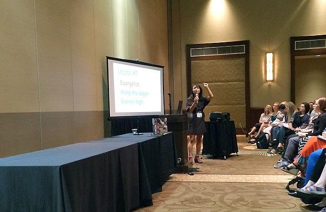 Miyoko of Vegan Cheese Fame talks at VVC