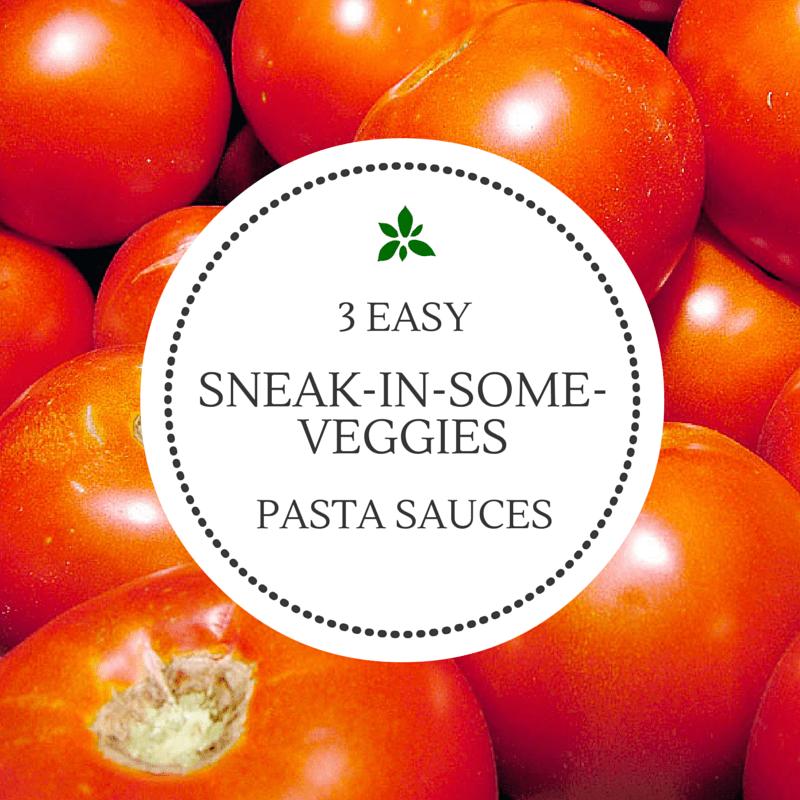 3 Sneak-in-Some-Veggies Pasta Sauces
