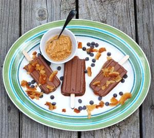 The Elvis Popsicle – Vegan Banana Peanut Butter Fudgsicles