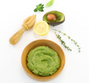 Easy Avocado Lemon Basil Pesto from The Easy Vegan Cookbook