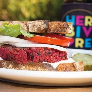 Roasted Beet Burgers from Eat Like You Give a Damn