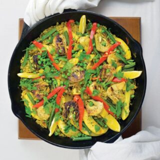 Paella Bowl from Vegan Bowls by Zsu Dever