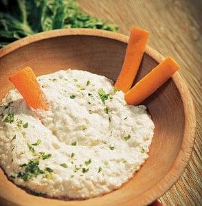 Chard Stalk Hummus from The CSA Cookbook
