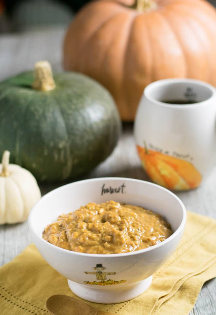 Overnight Pumpkin Ginger Oats made with Nancy's Organic Cultured Soy