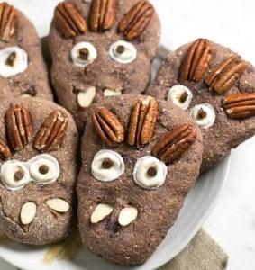 Vegan Halloween Treat: Purple Sweet Potato Spice Monster Biscuits