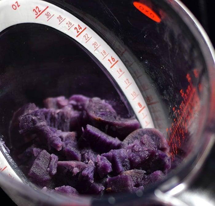 Vegan Spiced Sweet Purple Potato Baked Oatmeal