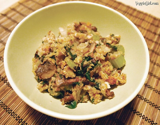 Dianne's Home » Recipes » Spinach Mushroom Stuffing Spinach Mushroom Stuffing