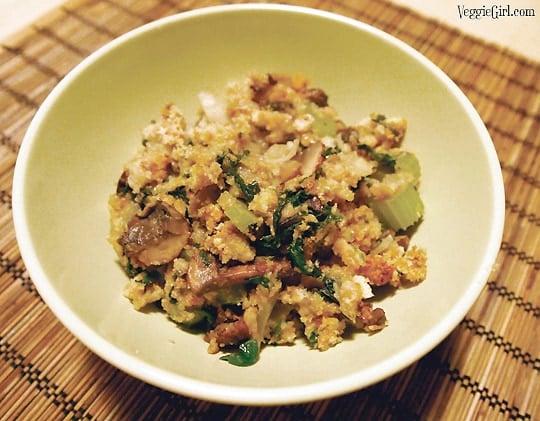 Dianne's Home » Recipes » Spinach Mushroom Stuffing Spinach Mushroom Stuffing