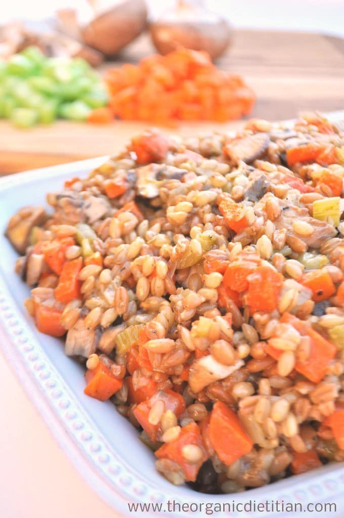 Breadless Stuffing from The Organic Dietitian