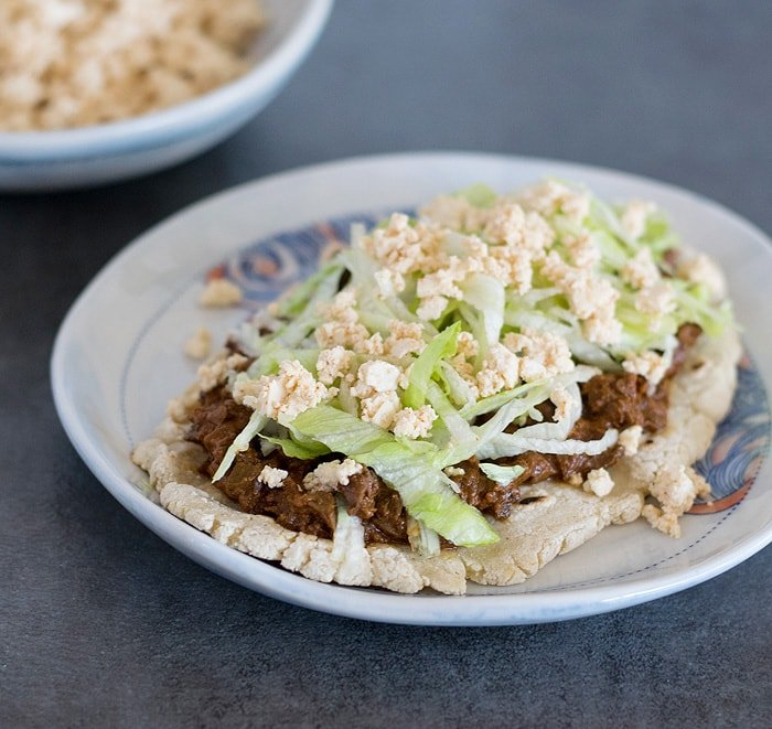 Vegan Slow Cooker Mole Mushroom Taco Filling, Huaraches and My Trip to Cancun