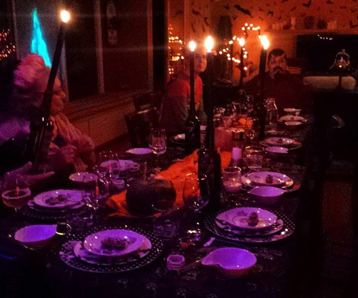 The Gothic Dinner is about to begin - photo by Jenni Fields