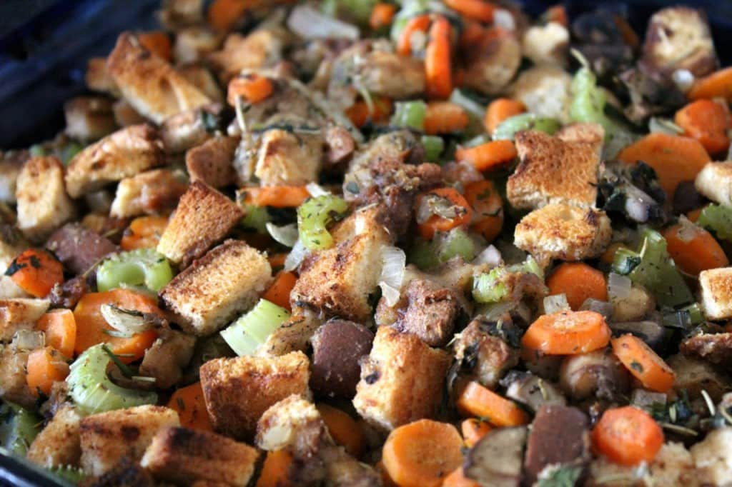 The Best Gluten-Free Vegan Stuffing from Strength and Sunshine