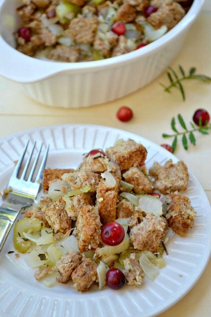 Gluten-Free Thanksgiving Stuffing from Fork and Beans