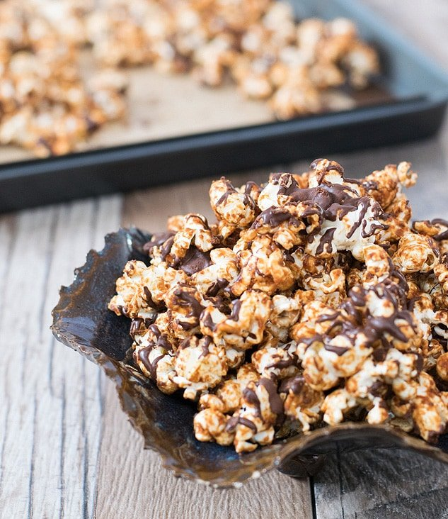 Peanut Butter Cup Popcorn from DIY Vegan