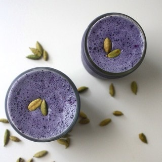 Blueberry Cardamom Smoothie from Blend it Up glueandglitter.com