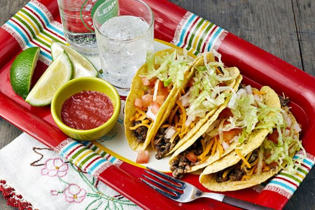 Slow Cooker Lentil-Quinoa Taco Filling, Photo by Kate Lewis