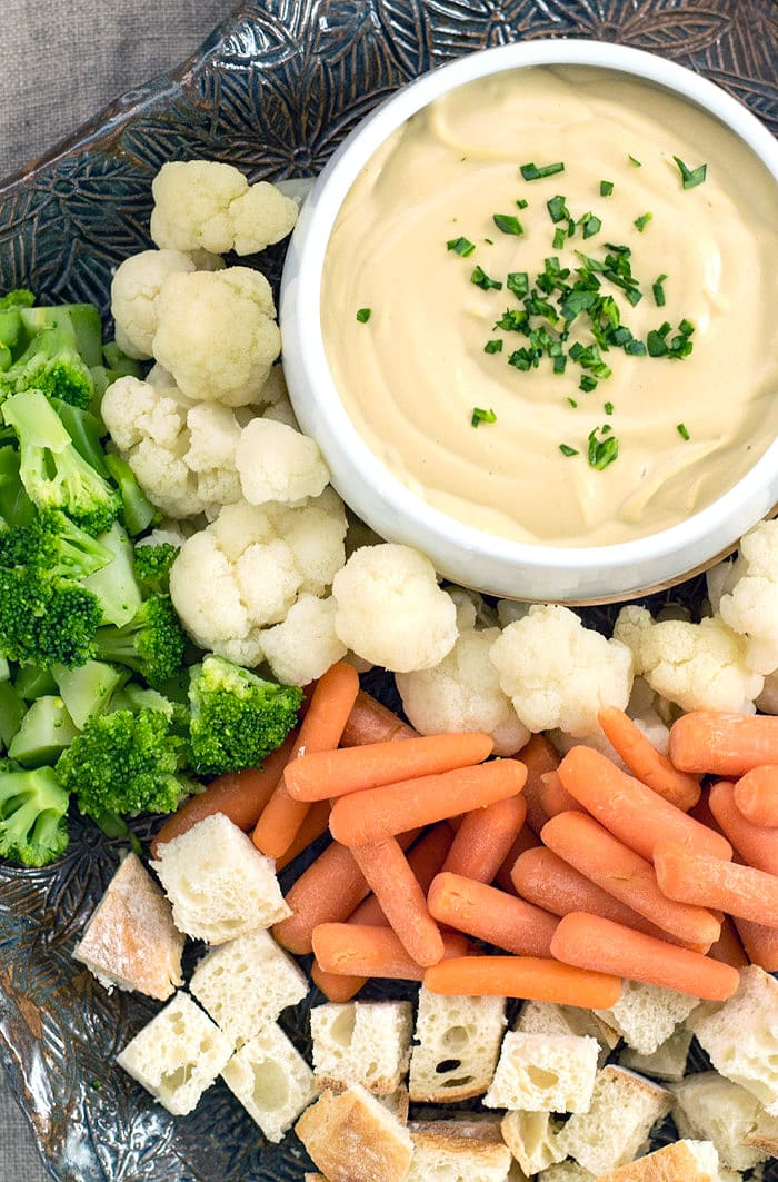 Vegan Fondue for the Game or a Nice Dinner