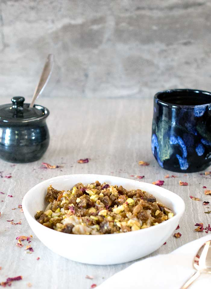 Orange Flower, Pistachio, and Date Oatmeal #BringYourBestBowl #Kroger