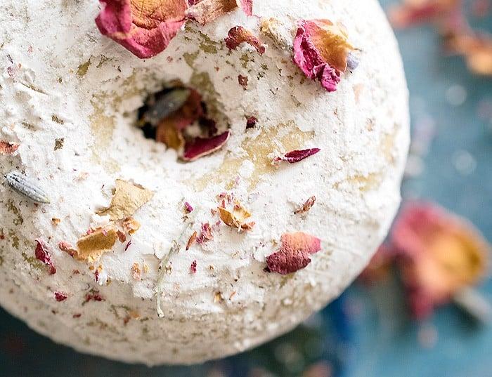 A Vegan Valentine Lavender Rose Baked Vegan Donuts