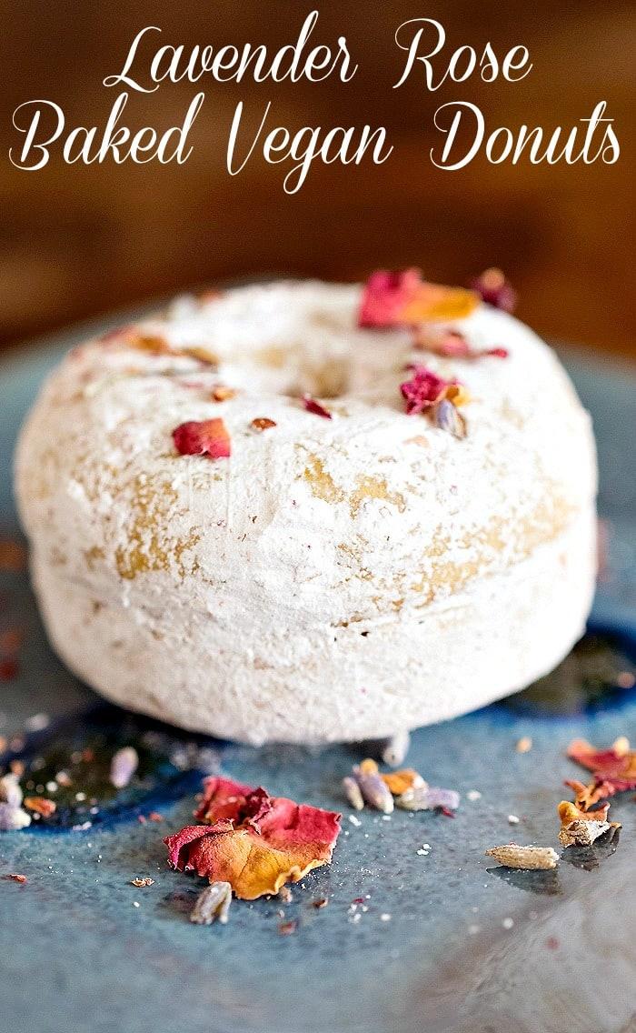 A Vegan Valentine: Lavender Rose Baked Donuts