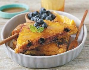 Blueberry Breakfast Polenta from The Great Vegan Grain Book