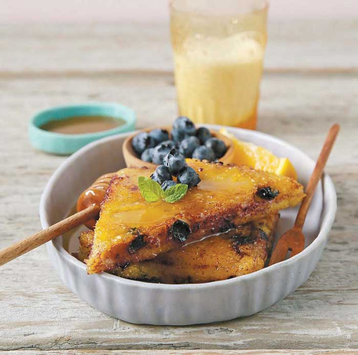Blueberry Polka Dot Polenta from The Great Vegan Grain Book @QuartoCooks