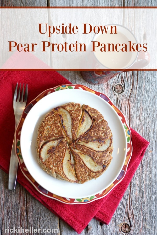 Ricki Heller's Upside Down Pear Protein Pancakes for Two
