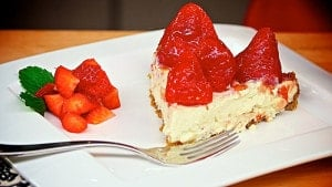 Vegan Strawberry Mountain Pie from The Jazzy Vegetarian