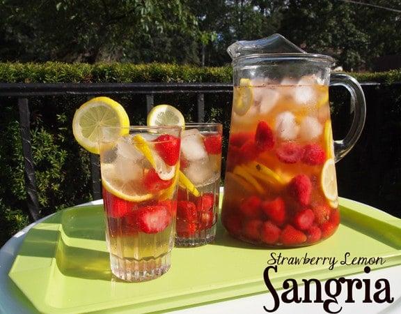 Strawberry Lemon Sangria from Dianne's Vegan Kitchen