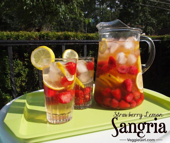 Strawberry Lemon Sangria from Dianne's Vegan Kitchen