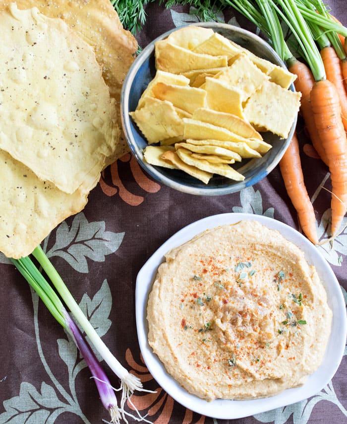 Happy Hummus Day! Celebrate #NationalHummusDay with Sabra and Vegan Chickpea Crackers