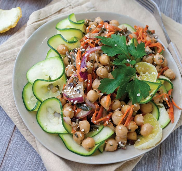 Zucchini Noodle Salad with Moroccan Chickpeas from Nourishing Noodles ...