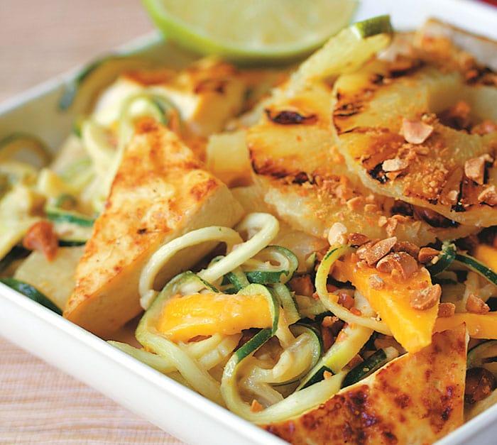 Vegan Pad Thai Salad over Spiralized Zucchini from The Little Vegan Cookbook