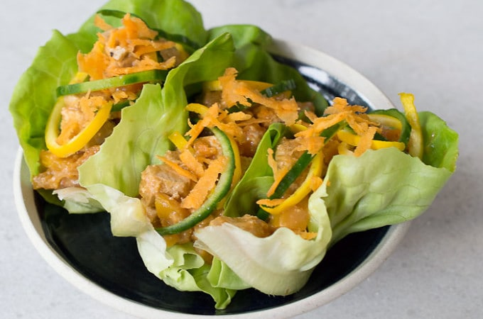 Vegan Slow Cooker No-Honey Tofu