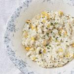 Vegan Slow Cooker Fresh Corn Risotto Using My Favorite Corn Cobb Trick