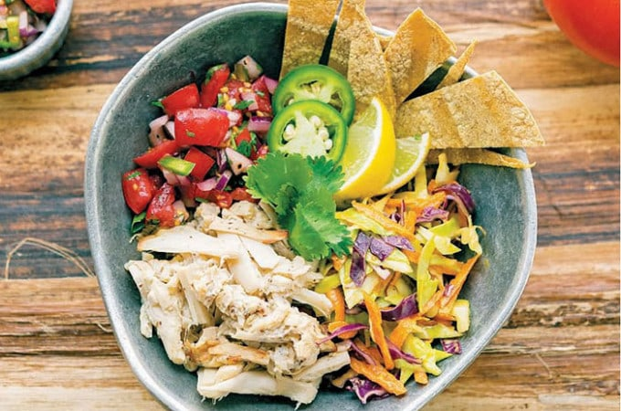 Hearts of Palm Vegan Fish Taco Bowl