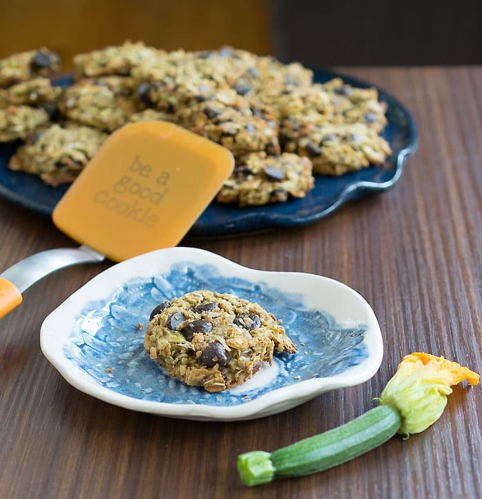 Vegan Gluten-free Zucchini Chocolate Chip Cookies