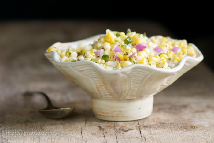 Fresh Sweet Corn Salsa from namelymarly.com